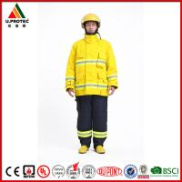 Cheap Hi Vis Safety Flame Retardant Work Coverall Firefighter Uniforms High Visibility for sale
