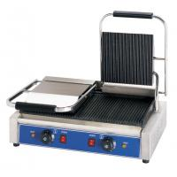 Cheap Electric Restaurant Cooking Equipment Double Contact Grill Griddle Sandwich Press Grill for sale