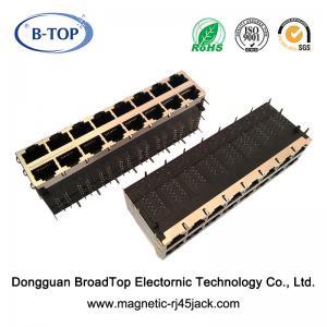 Cheap Gigabit Magnetic Rj45 Jack 16 Ports PoE IEEE802.3 Standard For Network Equipment for sale