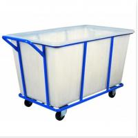 Cheap K500 Rotational Plastic laundry trolley cart  with loading capacity 400- 500kg for sale
