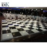 Cheap Black and White  wood dance floor for special Events decorate for sale