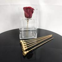 Cheap Reasonable Price Plastic rose stem artificial flower stem use to make preserved roses  flower box for sale