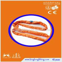 Cheap Polyster Lifting Chain Slings  Orange Color Customized Round Shape for sale