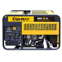 Cheap 1030×600×650mm 25L 12V 10KVA Silent Diesel Generator for sale