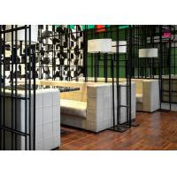 Cheap Square Pattern Hotel Fast Food Restaurant Seating , Custom Restaurant Booths U Shaped for sale