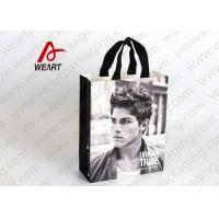 Cheap Glued Special Handle Printed Paper Carrier Bags , Custom Recycled Shopping Bags For Retail Stores for sale