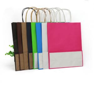 Cheap Heatproof 40gsm Twisted Handle Paper Bags for sale
