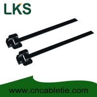 Cheap LKS-457M PPA Coated Releasable Stainless Steel Cable Ties for sale
