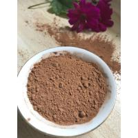 Cheap NF02 Dark Brown Natural Low Fat Cocoa Powder 4%-8% Fat Content , 5.0-5.8 PH Value for sale