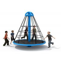 Cheap Wear Resistant Pyramid Rope Climbing Frame / Elementary School Playground Equipment for sale