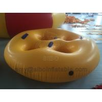 Quality 0.75 Pvc Material Inflatable Ski Water Tube Portable Inflatable Swim Ring For wholesale