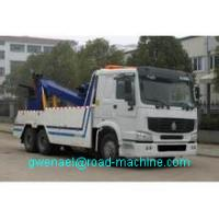 Cheap HOWO White 30 TON Wrecker Tow Truck / Diesel Obstacle Trucks for sale