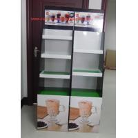 Cheap Milk tea Cardboard Floor Display LOGO printed , lightweight and strong for sale