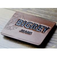 Cheap Waterproof Leather Embossed Patches Pu Leather Labels Fashionable Design for sale