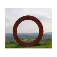 Cheap Contemporary Metal Art Corten Steel Ring Sculpture Forging And Casting Technique for sale