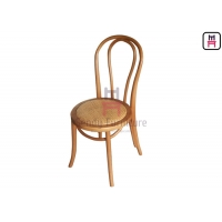 Cheap Open Back Armless Solid Wood Dining Chair With Canework Seat for sale