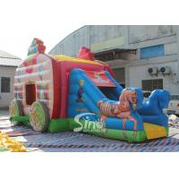Cheap Kids Pink Princess Carriage Inflatable Bouncy Castle Slide With Lead Free Material for sale