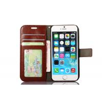 Colorful Iphone 6s Leather Wallet Case 4.7 Inch Handmade Magnet Side - Open