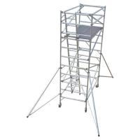 Cheap Construction Folding Aluminium Scaffold Tower Complied With EN 1004 Standards for sale