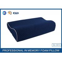 Cheap China Supplier Blue Memory Foam Support Pillow Contour Wave Shaped for sale