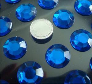 Cheap round shape flat back rhinestone sticker loose stone self stick 3d sticker for sale