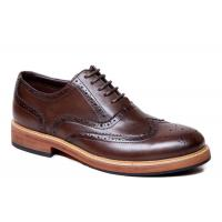 Luxury Wingtips Brogue Oxford Shoes , Men Casual Formal Shoes For Wedding