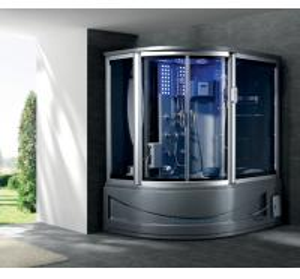 China sliding door massage shower unit steam spa massage combination with 4L mini fridge G165I on sale