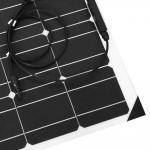Cheap ETFE Surface 100 Watt Monocrystalline Solar Panel 18 Volt Cell Efficiency 19.5% for sale