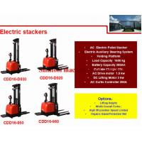 Buy cheap 1.6T 280Ah Electric Pallet Stacker With 4500mm Standard Lift Height And Wide from wholesalers
