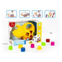 Cheap Educational Shape Sorting Matching Baby Blocks Toys Car Set 9Pcs PP Plastic Material for sale
