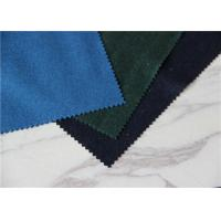 Cheap Navy / Green Dry Clean Melton Wool Fabric Water Resistant 60 Polyester for sale