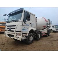 Cheap 13 Ton Rated Load Used Cement Mixer Truck 8x4 Drive Mode 80Km/H Max Speed for sale
