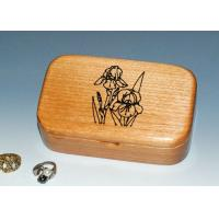 Cheap Natural Wood Solid Timber Jewellery Box With Lacquer, Handmade Wooden Ring Gift Box for sale