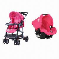 Baby's Stroller with Travel System Car Seat, Removable Bumper Bar with Basket, Amphibious Function