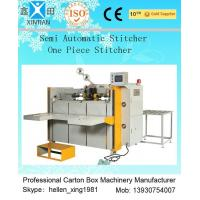 Cheap High Speed Semi Automatic Carton Folding and Stitching Machine 400nails/min for sale