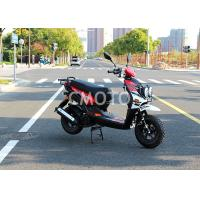 Buy cheap Black Gas Motor Scooter , 125cc Moped Motor Scooter Rear Mounted Storage Trunk from wholesalers