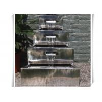 Cheap Polished Craft Stainless Steel Water Feature / Metal Water Features Fountains for sale