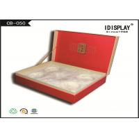 Red Luxury Tea Cardboard Gift Boxes / Gift Packaging Boxes With Clamshell Design