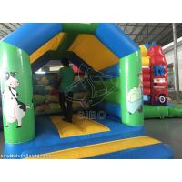 Cheap Durable Inflatable Kids / Childrens Bouncy Castle With Slide Safety Fire Proof for sale