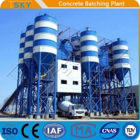 Cheap Belt Feeding HZS180 Stationary Concrete Batching Plant for sale