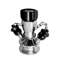 Cheap Manual Operated Hygienic Stainless Steel Valves With Tri Clamp Sample Inlet Connection for sale
