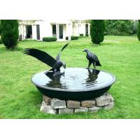 Cheap Antique Cast Metal Fish Bronze Statue Bowl Water Fountain Metal Lawn Sculptures for sale