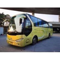Cheap Used Coach Bus Left Steering Good Condition With AC Euro III Model XML6102 45 Seats Used Golden Dragon Bus for sale