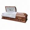 Buy cheap US Style Cedar Veneer Wood Casket with Adjustable Steel Bed from wholesalers
