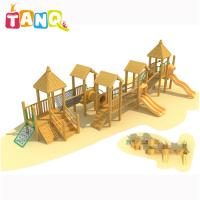 Cheap Children Like Kids Outdoor Play Equipment Wooden Series Slide For 3-12 Years for sale