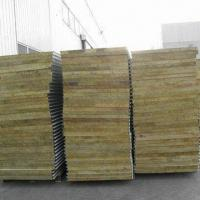 Fireproof rock wool sandwich wall panel with 80 to 180kg for Fireproof rockwool
