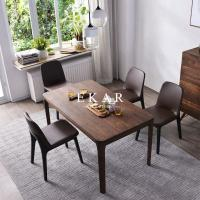 Cheap European Simple Furniture 6 Chairs Set Rectangular Dining Table Solid Wood for sale