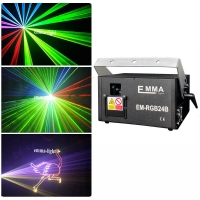Cheap 1.5w RGB laser 3D animation projector ILDA DMX dance bar Xmas Party Disco DJ effect Light stage Lights Show system for sale