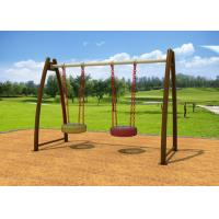 Cheap Playground Childrens Outdoor Swing Sets , Safety Outside Swing Sets KP-G003 for sale