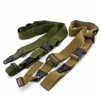 Cheap 3 Point Tactical Gun Sling , Military Airsoft Adjustable Bungee Gun Strap for sale